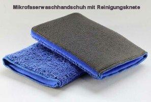 Mikrofaserwaschhandschuh mit Reinigungsknete