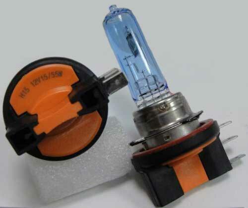 1 satz h15 15 55 watt xenon look lampen 6000 kelvin mit e for Lampen 6000 kelvin